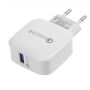 olcso iPod tartozékok-Gyors töltő / Hordozható töltő USB töltő EU konnektor QC 3.0 1 USB port 2.1 A 100~240 V mert Univerzalno