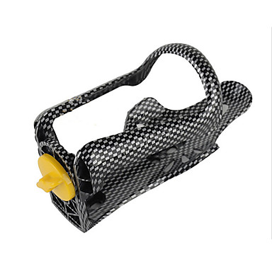 olcso Kulacsok és kulacstartók-Bike Water Bottle Cage Állítható Hordozható Könnyű Nem deformálódó Tartós Kompatibilitás Kerékpározás Treking bicikli Mountain bike Szórakoztató biciklizés PVC Ezüst / Fekete