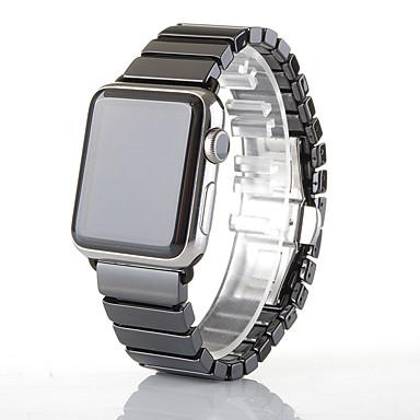 Недорогие Аксессуары для смарт-часов-Ремешок для часов для Серия Apple Watch 5/4/3/2/1 Apple Бабочка Пряжка Керамика Повязка на запястье
