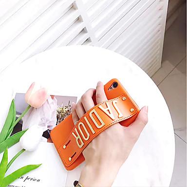 Недорогие Кейсы для iPhone 6-Кейс для Назначение Apple iPhone 8 Pluss / iPhone 8 / iPhone 7 Plus Защита от удара / Кольца-держатели Кейс на заднюю панель Слова / выражения Твердый Кожа PU
