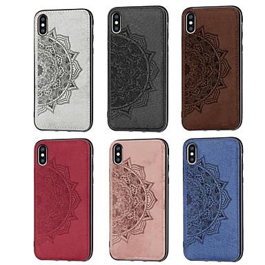 """Недорогие Кейсы для iPhone 6 Plus-Кейс для Назначение Apple iPhone XS / iPhone XR / iPhone XS Max С узором Кейс на заднюю панель Цветы Мягкий Ткань """"Оксфорд"""""""