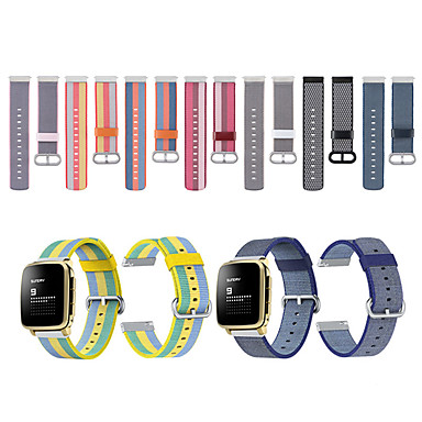 voordelige Smartwatch-accessoires-Horlogeband voor Pebble Time / Pebble Time Steel Pebble Sportband Stof / Nylon Polsband