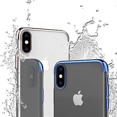 Недорогие Кейсы для iPhone-Кейс для Назначение Apple iPhone XS / iPhone XR / iPhone XS Max Защита от удара / Покрытие / Прозрачный Кейс на заднюю панель Прозрачный / Однотонный Мягкий ТПУ