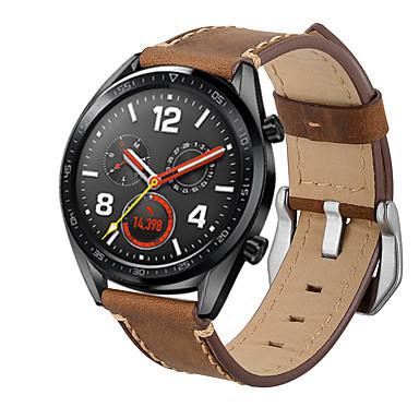 voordelige Smartwatch-accessoires-Horlogeband voor Huawei Watch GT Huawei Moderne gesp Echt leer Polsband