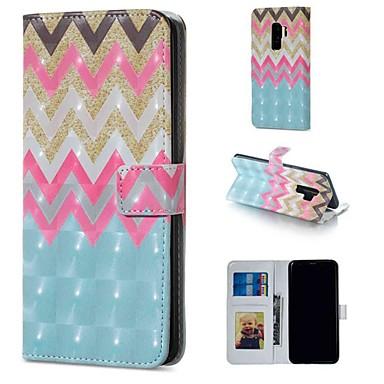 Недорогие Чехлы и кейсы для Galaxy S-Кейс для Назначение SSamsung Galaxy S9 / S9 Plus / S8 Plus Кошелек / Бумажник для карт / со стендом Чехол Полосы / волосы Твердый Кожа PU