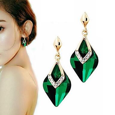 ieftine Cercei-Pentru femei Sintetic Aquamarine Cercei Picătură Stilat Diamante Artificiale cercei Bijuterii Negru / Maro deschis / Verde Pentru Zilnic 1 Pair