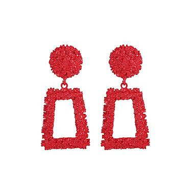 رخيصةأون أقراط-نسائي حلقات كلاسيكي الأقراط مجوهرات أصفر / أحمر / ذهبي روزي من أجل شارع الحانة Bar 1 زوج
