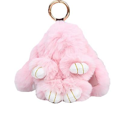 ieftine Breloc-breloc Rabbit Animal Casual Modă Inele la Modă Bijuterii Negru / Camel / Alb Pentru Cadou Școală