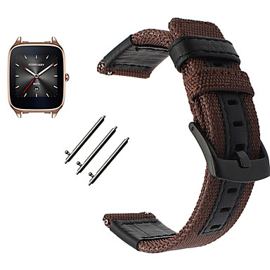 cheap Watch Band for ASUS-Watch Band for Asus ZenWatch 2 / Asus ZenWatch Asus Sport Band Leather / Nylon Wrist Strap