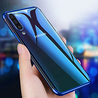 voordelige Galaxy A-serie hoesjes / covers-hoesje Voor Samsung Galaxy A6 (2018) / A6+ (2018) / Galaxy A7(2018) Beplating / Ultradun / Transparant Achterkant Effen Zacht TPU
