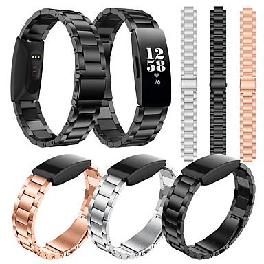 Недорогие Аксессуары для мобильных телефонов-Ремешок для часов для Fitbit Inspire HR / Fitbit Inspire Fitbit Классическая застежка Нержавеющая сталь Повязка на запястье