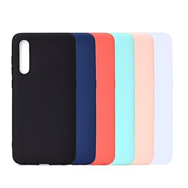 رخيصةأون حافظات / جرابات هواتف جالكسي A-غطاء من أجل Samsung Galaxy A6 (2018) / A6+ (2018) / Galaxy A7(2018) ضد الصدمات / مثلج غطاء خلفي لون سادة ناعم TPU