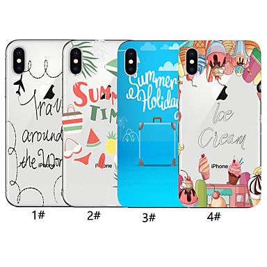 voordelige iPhone-hoesjes-hoesje voor apple iphone xr / iphone xs max patroon achterkant woord / zin zachte tpu voor iphone x xs 8 8plus 7 7plus 6 6plus 6s 6s plus