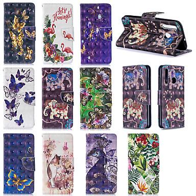 voordelige Galaxy A-serie hoesjes / covers-hoesje Voor Samsung Galaxy A6 (2018) / Galaxy A7(2018) / A8 2018 Portemonnee / Kaarthouder Volledig hoesje dier / Bloem Zacht TPU