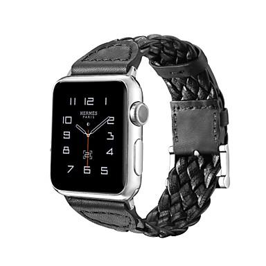 Недорогие Аксессуары для смарт-часов-Ремешок для часов для Серия Apple Watch 5/4/3/2/1 Apple Спортивный ремешок Нейлон / Натуральная кожа Повязка на запястье