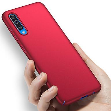 غطاء من أجل Samsung Galaxy A6 (2018) / A6+ (2018) / Galaxy A7(2018) ضد الصدمات / نحيف جداً / مثلج غطاء خلفي لون سادة قاسي الكمبيوتر الشخصي