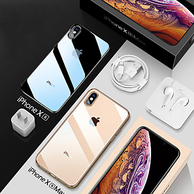 hoesje Voor Apple iPhone XS / iPhone XR / iPhone XS Max Schokbestendig / Beplating / Transparant Achterkant Transparant Zacht TPU