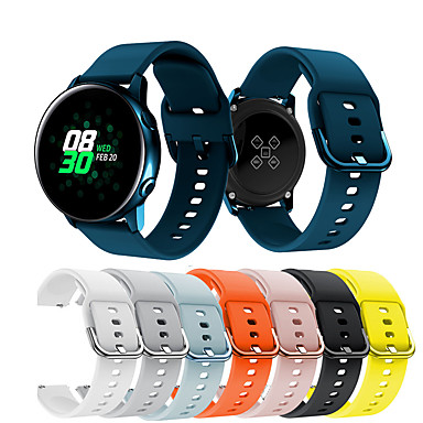 Недорогие Часы для Samsung-Ремешок для часов для Samsung Galaxy Active Samsung Galaxy Спортивный ремешок Металл / силиконовый Повязка на запястье