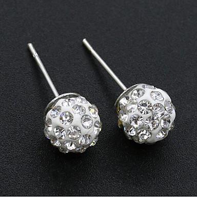 Žene Sitne naušnice Klasičan Stilski Jednostavan Naušnice Jewelry Srebro Za Dnevno Rad 1 par