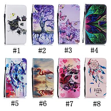 Недорогие Чехлы и кейсы для Galaxy S-Кейс для Назначение SSamsung Galaxy S9 / S9 Plus / S8 Plus Кошелек / Бумажник для карт / со стендом Чехол Бабочка / Животное / дерево Мягкий Кожа PU
