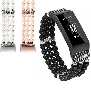 voordelige Smartwatch-accessoires-Horlogeband voor Fitbit Charge 2 / Fitbit Charge 3 / Fitbit Inspire Fitbit Sieradenontwerp Keramiek Polsband