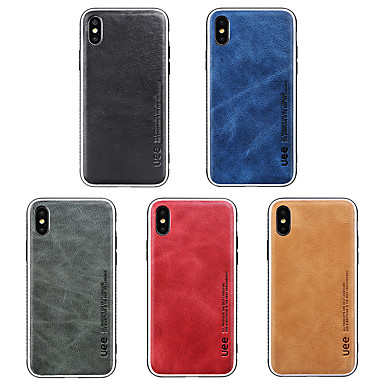 baratos Capinhas para iPhone-Capinha Para Apple iPhone XS / iPhone XR / iPhone XS Max Antichoque Capa traseira Sólido Macia Silicone