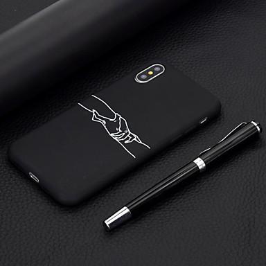 Недорогие Кейсы для iPhone 6 Plus-чехол для яблока iphone xr iphone xs макс раскрашенный рисунок телефона чехол материал тпу для iphone se / 5s / iphone 6 6s 6s plus 7 8 7plus 8 plus x xs