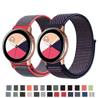 Недорогие Часы для Samsung-Ремешок для часов для Samsung Galaxy Active Samsung Galaxy Спортивный ремешок Нейлон Повязка на запястье