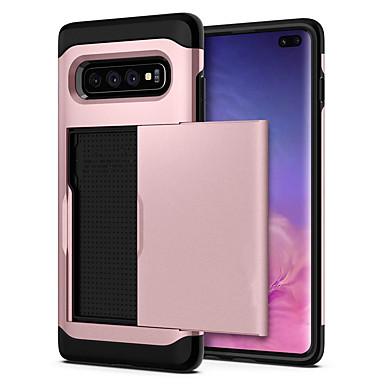 Недорогие Чехлы и кейсы для Galaxy S-Кейс для Назначение SSamsung Galaxy S9 / S9 Plus / S8 Plus Бумажник для карт / Защита от удара Кейс на заднюю панель Однотонный Твердый ПК