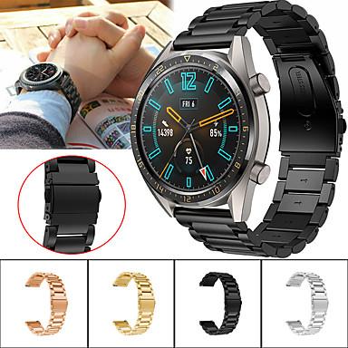 voordelige Smartwatch-accessoires-Horlogeband voor Huawei Watch GT / Watch 2 Pro Huawei Sportband Metaal / Roestvrij staal Polsband
