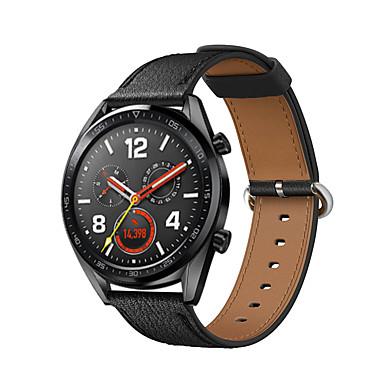 preiswerte Uhrenarmbänder für Huawei-Uhrenarmband für Huawei Uhr GT Huawei Klassische Schnalle Echtes Leder Handschlaufe