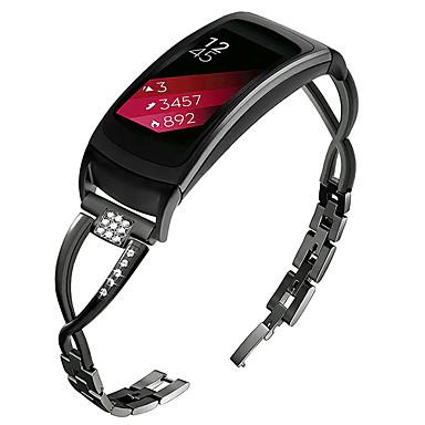 Недорогие Часы для Samsung-Ремешок для часов для Gear Fit 2 Samsung Galaxy Современная застежка / Дизайн украшения Металл / Нержавеющая сталь Повязка на запястье