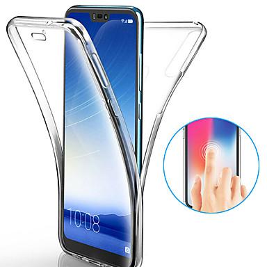 رخيصةأون Huawei أغطية / كفرات-غطاء من أجل Huawei Huawei P20 / Huawei P20 Pro / Huawei P20 lite ضد الصدمات / نحيف جداً / شفاف غطاء كامل للجسم لون سادة ناعم TPU / P10 Plus / P10 Lite / P10