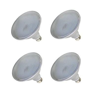olcso LED izzók-4db 15 W LED szpotlámpák 1000-1200 lm E26 / E27 75 LED gyöngyök SMD 2835 Vízálló Meleg fehér Fehér 110-240 V