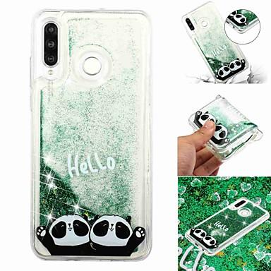 voordelige Huawei Mate hoesjes / covers-hoesje Voor Huawei Huawei P20 / Huawei P20 Pro / Huawei P20 lite Stromende vloeistof / Transparant / Patroon Achterkant Panda Zacht TPU