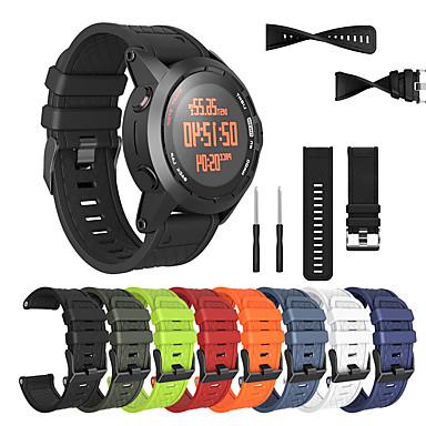 voordelige Smartwatch-accessoires-vervangende polsband horlogeband polsband silicagel zachte band band voor Garmin fenix 2 slimme horloge armband met gereedschap