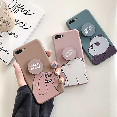 voordelige iPhone X hoesjes-hoesje Voor Apple iPhone XS / iPhone XR / iPhone XS Max Mat / Patroon Achterkant Cartoon / Panda Zacht TPU