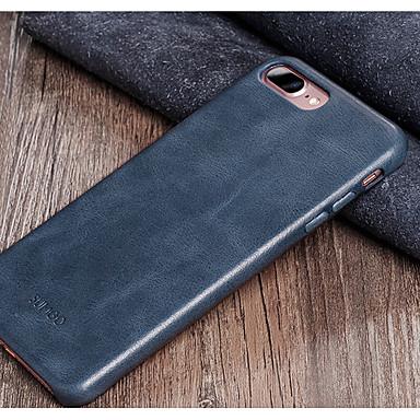 Недорогие Кейсы для iPhone 6 Plus-Кейс для Назначение Apple iPhone 7 Plus / iPhone 7 / iPhone 6s Plus Защита от удара Кейс на заднюю панель Однотонный Твердый Настоящая кожа