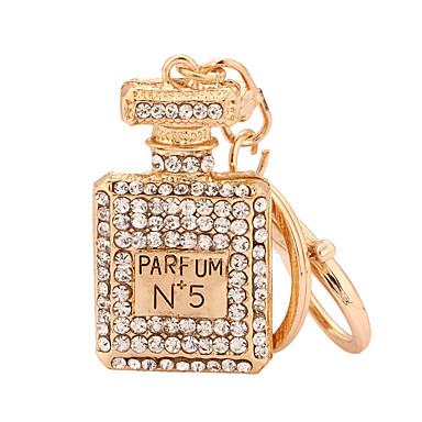 رخيصةأون سلاسل المفاتيح-سلسلة المفاتيح زجاجة موضة خواتم مجوهرات ذهبي روزي من أجل فضفاض مناسب للبس اليومي