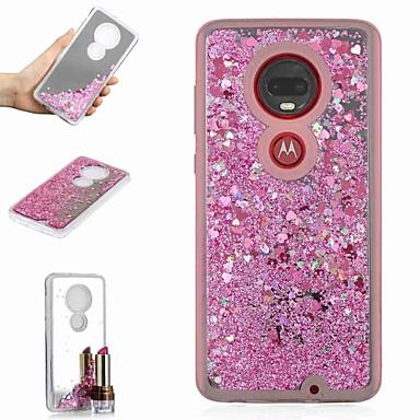 Недорогие Чехлы и кейсы для Motorola-Кейс для Назначение Motorola Moto X4 / Мото G7 / Мото G7 Plus Защита от удара / Движущаяся жидкость / Зеркальная поверхность Кейс на заднюю панель Сияние и блеск / Градиент цвета Твердый ТПУ