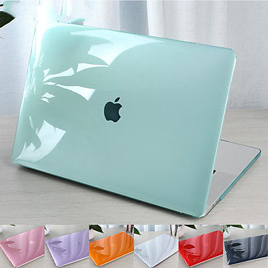 cheap Mac Cases & Mac Bags & Mac Sleeves-For MacBook Pro Air 11-15 Computer Case 2018 2017 2016 Released A1989 / A1706 / A1708 With Touch Strip PVC Pattern Hard Shell Translucent Crystal Case