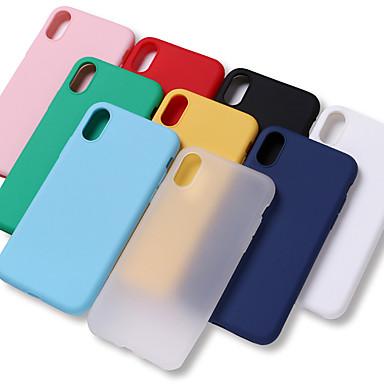 Недорогие Кейсы для iPhone 7 Plus-Кейс для Назначение Apple iPhone XS / iPhone XR / iPhone XS Max Защита от удара / Защита от влаги Кейс на заднюю панель Однотонный Мягкий ТПУ