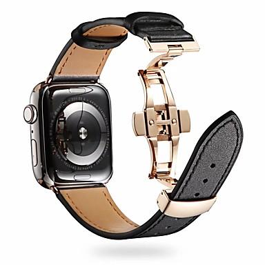 povoljno Oprema za mobitele-Pogledajte Band za Apple Watch Series 5/4/3/2/1 Apple Klasična kopča Prava koža Traka za ruku