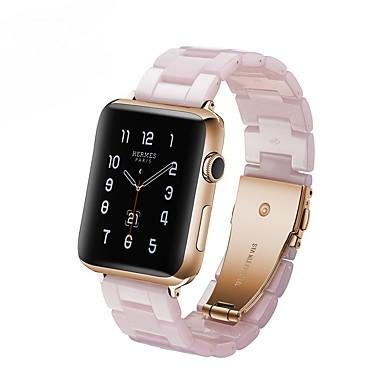 Недорогие Аксессуары для смарт-часов-Ремешок для часов для Apple Watch Series 4/3/2/1 Apple Современная застежка Pезина Повязка на запястье