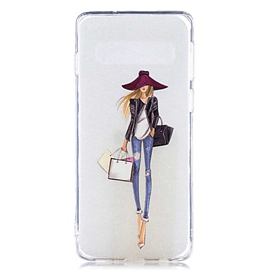 voordelige Galaxy S-serie hoesjes / covers-hoesje Voor Samsung Galaxy S9 / S9 Plus / S8 Plus Transparant / Patroon Achterkant Sexy dame Zacht TPU