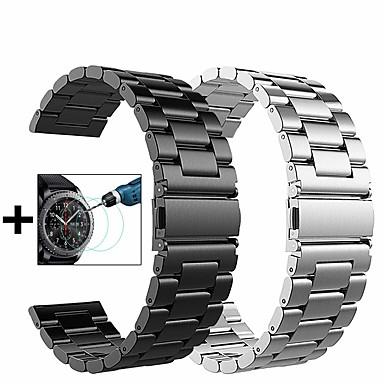 voordelige Horlogebandjes voor Samsung-Horlogeband voor Gear S3 Frontier / Gear S3 Classic / Samsung Galaxy Watch 46 Samsung Galaxy Sportband / Milanese lus / Butterfly Buckle Metaal / Roestvrij staal Polsband