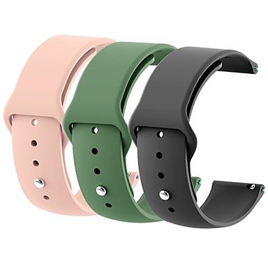 Недорогие Часы для Samsung-18мм 20мм 22мм 3шт силиконовый ремешок для часов передач s2 ремешок для samsung gear s3 классический пограничный галактики часы корра amazfit бип браслет