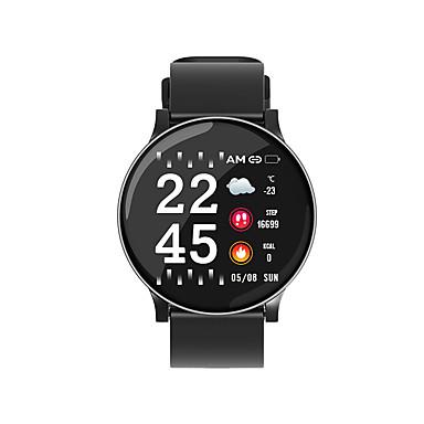Kimlink SW8 الرجال النساء سوار الذكية Android iOS ضد الماء شاشة لمس رصد معدل ضربات القلب رياضات رمادي داكن المشي عداد الخطى تذكرة بالاتصال متتبع النشاط متتبع النوم