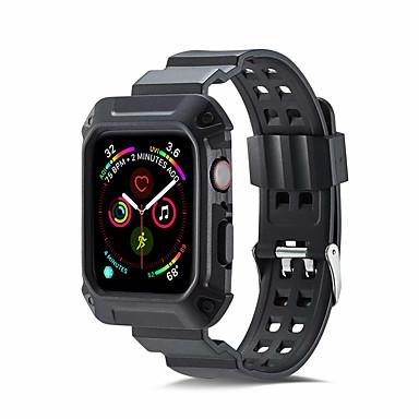 Недорогие Ремешки для Apple Watch-ремешок для яблочных часов 4 (44 мм / 40 мм) 2 в 1 iwatch 4 прочный защитный чехол для бампера с браслетом