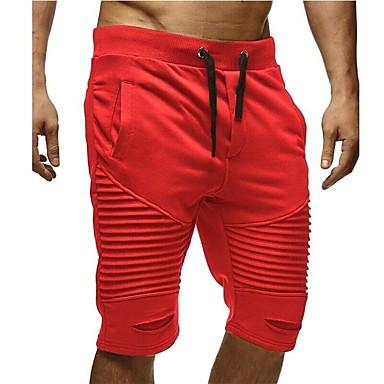 povoljno Sportske hlače-Muškarci Osnovni Širok kroj Chinos / Sportske hlače Hlače - Jednobojni Crn Red Tamno siva L XL XXL